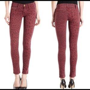 Current/Elliott Leopard Print Jeans
